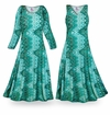 SOLD OUT! CLEARANCE! Green Tribal Slinky Print Plus Size A-Line Dress 0x