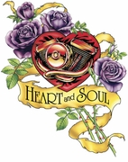 SALE! Heart and Soul Tattoo Plus Size & Supersize T-Shirts S M L XL 2xl 3xl 4x 5x 6x 7x 8x