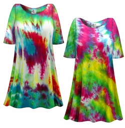 SALE! Heavy Colorful Tie Dye Plus Size Supersize X-Long T-Shirt 1x 2x 3x 4x 5x 6x 8x