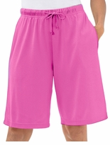 SOLD OUT!  Hot Hot Hot Pink! Super Soft Sport Knit Plus Size Bermuda Shorts 6x