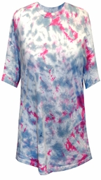 CLEARANCE! Hot Pink and Gray Tie Dye Plus Size T-Shirts 6xl