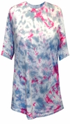 SOLD OUT! CLEARANCE! Hot Pink and Gray Tie Dye Plus Size T-Shirts 6xl