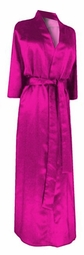 SOLD OUT! CLEARANCE! Hot Pink Lightweight Plus Size Satin Robe 6x