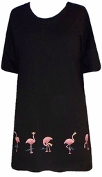 SOLD OUT!!! Hot Pink! Pink Flamingo Border T-Shirt 7x Plus Size & Supersize