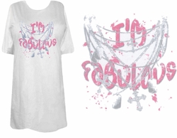 SOLD OUT! Hot! Tattoo Prints!  I'm Fabulous Plus Size & Supersize T-Shirts 5x