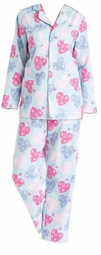 SALE! Ice Blue Heart Plus Size Flannel Pajamas PJs 4x 5x