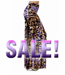SOLD OUT! SALE! Indigo Wild Animal Skin Print Slinky Palazzo Pants 3x Tall