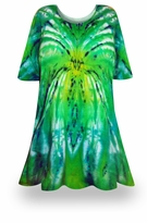 SALE! Itsy Bitsy Spider Green/Yellow Tie Dye Plus Size & Supersize X-Long T-Shirt 0x 1x 2x 3x 4x 5x 6x 7x 8x