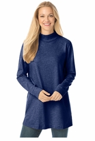 SALE! Navy Perfect Mock Plus Size Turtleneck Tunic Tops 4x