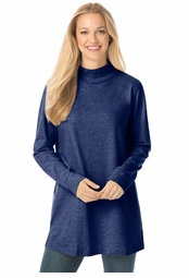 SOLD OUT! SALE! Navy Perfect Mock Plus Size Turtleneck Tunic Tops 4x