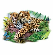 SALE! Jaguar Mom & Baby Plus Size & Supersize T-Shirts S M L XL 2x 3x 4x 5x 6x 7x 8x (Lights Only)