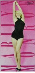 "SALE! Large Oversize Soft Cotton Velour Pink Marilyn Monroe Beach Towel! 30"" x 60"""