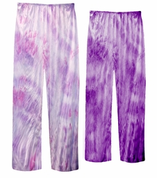 SALE! Lavender Tie Dye Plus Size & Super Size Poly Cotton Pants 1x 2x 3x 4x 5x 6x 7x 8x 9x