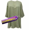 SOLD OUT! SALE! Light Pale Green Button Up Lida Caputo Plus Size Top 2x