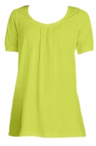 SOLD OUT! SALE! Lime Cotton U-Neck Plus Size Tunic Top 3x