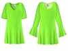 SOLD OUT! CLEARANCE! Lime Green Slinky Plus Size & Supersize Shirt 4x