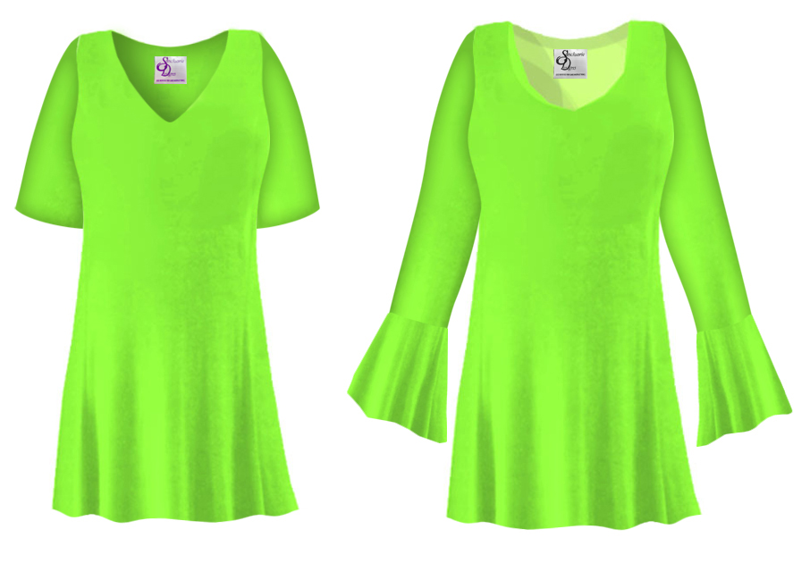SOLD OUT! CLEARANCE! Plus Size Lime Green Slinky Top 4x