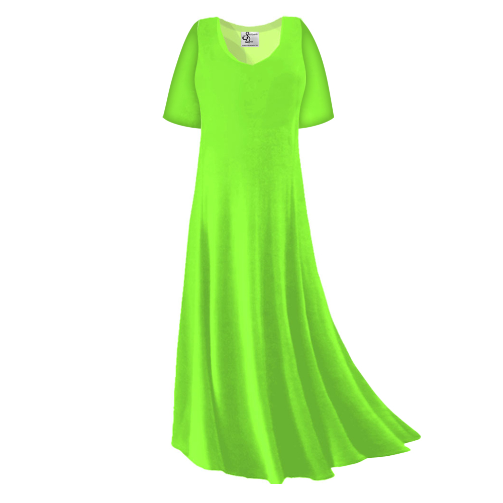 SOLD OUT! FINAL CLEARANCE SALE! Plus Size Lime Green Slinky Sleeve ...