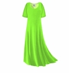 SOLD OUT! FINAL CLEARANCE SALE! Plus Size Lime Green Slinky Sleeve Dress 1x