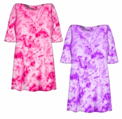 SALE! Lollipop Pink or Purple Tie Dye Plus Size T-Shirt 2XL 3XL