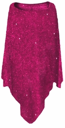 SOLD OUT! SALE! Magenta Glimmer Slinky Plus Size Supersize Poncho
