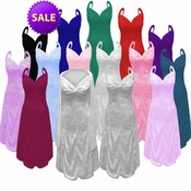 SALE! Many Colors! 2 Piece Princess Seam Dress Set: Beautiful Crush Velvet Plus Size & Supersize Large L