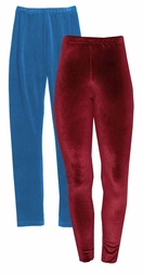 SOLD OUT! Marine Blue or Burgundy Velour Plus Size Pants Leggings