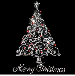 SALE! Merry Christmas Silver Tree Rhinestone / Studs Plus Size & Supersize T-Shirts S M L XL 2x 3x 4x 5x 6x 7x 8x 9x (All Colors)