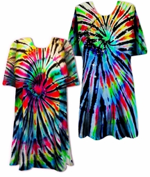 CLEARANCE! Midnight Prism Tie Dye Plus Size & Supersize T-Shirt XL 2x