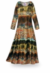 SOLD OUT! Mirage Slinky Print Plus Size & Supersize Dress