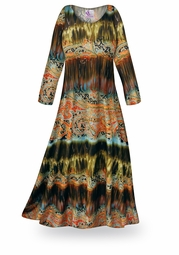 CLEARANCE! Mirage Slinky Print Plus Size & Supersize Dress XL
