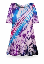 SALE! Morning Glory Tie Dye Plus Size & Supersize X-Long T-Shirt 0x 1x 2x 3x 4x 5x 6x 7x 8x