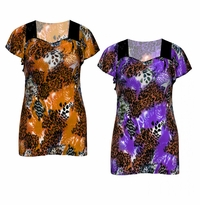 SALE! Purple or Brown Plus Size Slinky Top 4x
