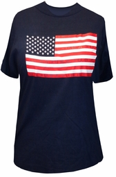 SOLD OUT! Just Reduced! Navy Blue American Flag Patriotic USA Plus Size T-Shirt