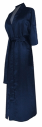 SOLD OUT! CLEARANCE! Navy Blue Lightweight Plus Size Satin Robe 6x