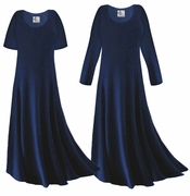 CLEARANCE! Navy Blue Slinky Plus Size & Supersize Dress 1x