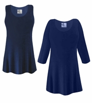CLEARANCE! Plus Size Navy Blue Slinky Top 1x 2x 6x 7x 8x