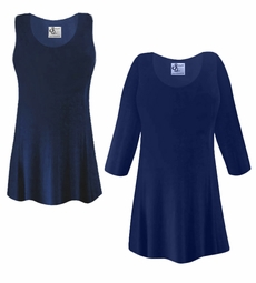 FINAL CLEARANCE SALE! Plus Size Navy Blue Slinky Top 1x 2x 7x 8x