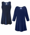 FINAL CLEARANCE SALE! Plus Size Navy Blue Slinky Top 1x 2x 7x