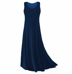 CLEARANCE! Plus Size Navy Blue Slinky or Spandex Tank Dress 2x 5x