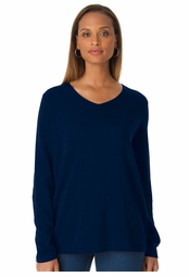 SALE! Navy Blue V Neck Pullover Plus Size Sweater Top 4x