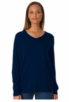 SALE! Navy Blue V Neck Pullover Plus Size Sweater Top 3x 4x