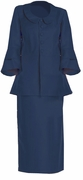 SOLD OUT! SALE! Navy, Royal, Red, or Dark Teal Tiered Sleeve Plus Size Skirtsuit  4x/32