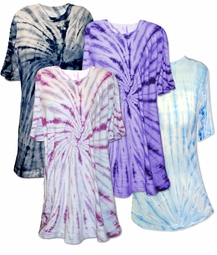 SOLD OUT! CLEARANCE Navy Swirl Plus Size Tie Dye T-Shirts 5xl