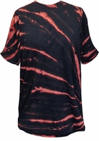 CLEARANCE! Burst Navy With Red Tie Dye Plus Size T-Shirt 4xl