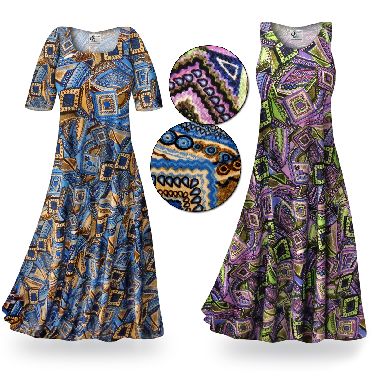 Clearance nifty squares slinky print plus size for 3x shirts on sale