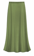 CLEARANCE! Plus Size Solid Olive Green Color Slinky Skirt 2x 5x