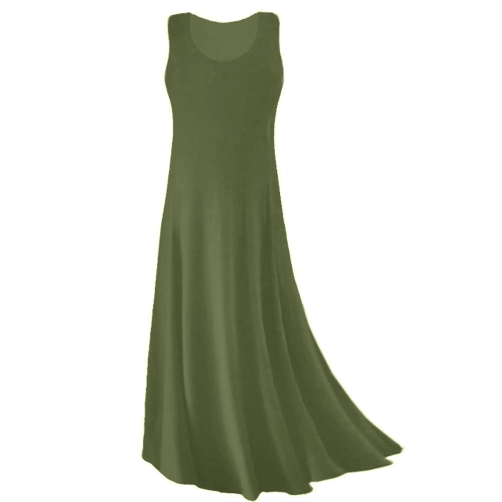 SOLD OUT! CLEARANCE! Olive Green Spandex Plus Size & Supersize Tank ...