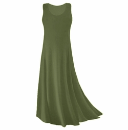 SOLD OUT! CLEARANCE! Olive Green Spandex Plus Size & Supersize Tank Dress 2x