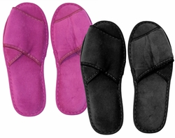 SOLD OUT! Shoe Sale! One Size Fits Most Black or Purple Velcro Slippers